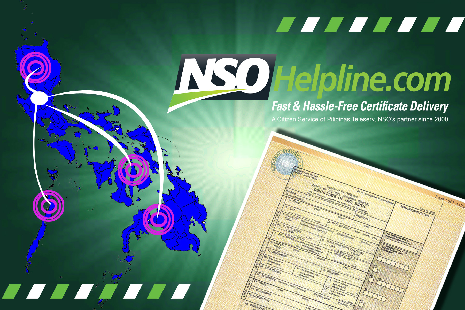 Have a worry free fast hassle free certificate delivery thru tired from waiting almost all day and getting caught in long lines just to get your birth certificate and other nso related certificates xflitez Choice Image