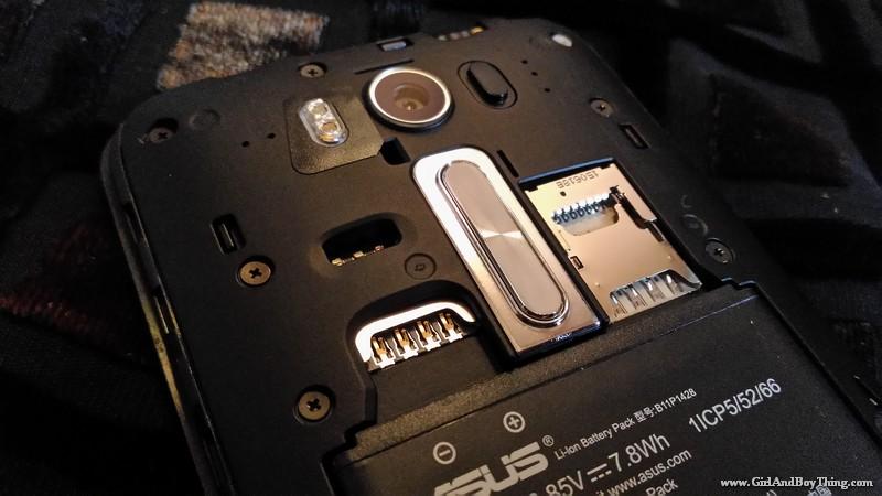 ASUS Zenfone 2 Laser sim card mmc slot