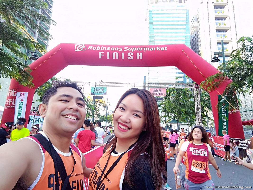 9th Robinsons Supermarket Fit and Fun Wellness Buddy Run finish line