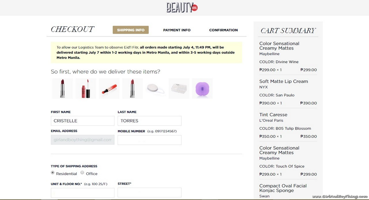 BeautyMNL Check out