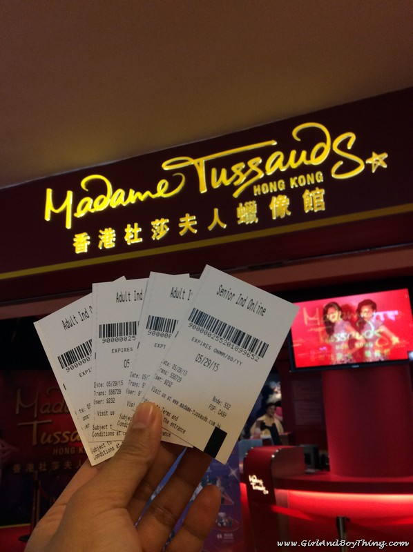 Madame Tussads Hong Kong Ticket