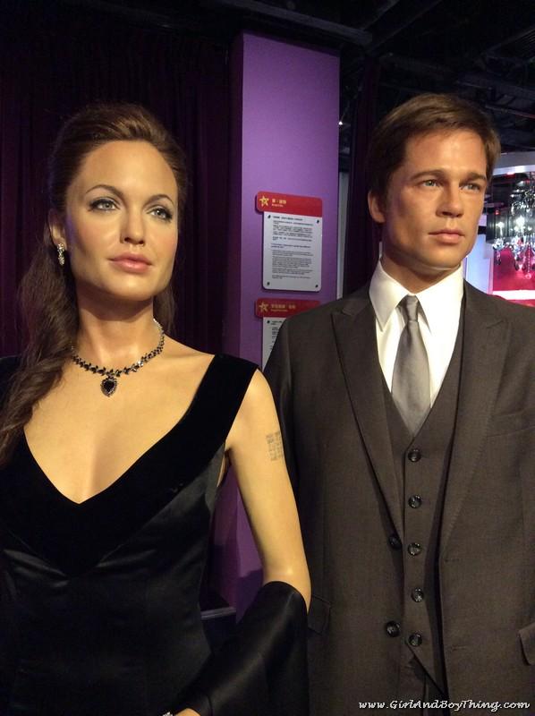 Madame Tussauds Hong Kong Angelina Jolie and Brad Pit