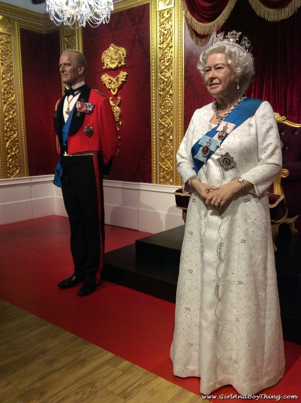 Madame Tussauds Hong Kong Queen Elizabeth II and Prince Philip