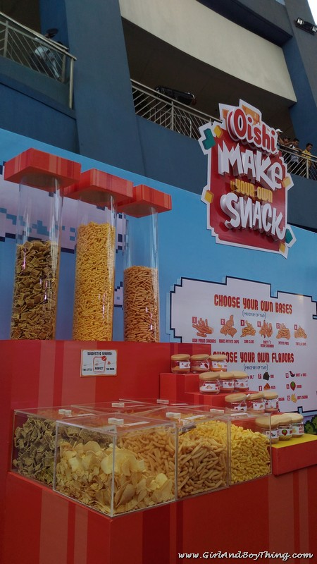 Oishi Snacktacular 2016 Make your own snack booth
