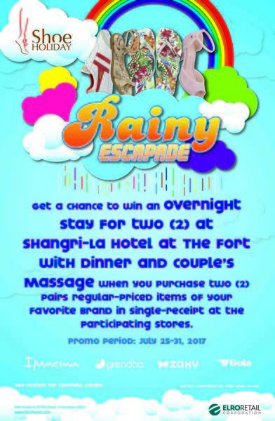 Shoe Holiday Rainy Escapade:  Win an overnight stay at Shangri-la Hotel The Fort