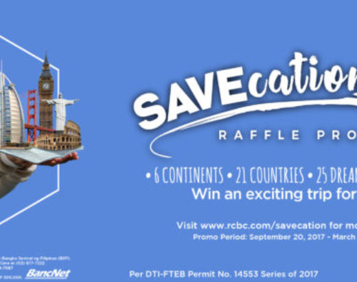 RCBC's SAVEcation Raffle Promo