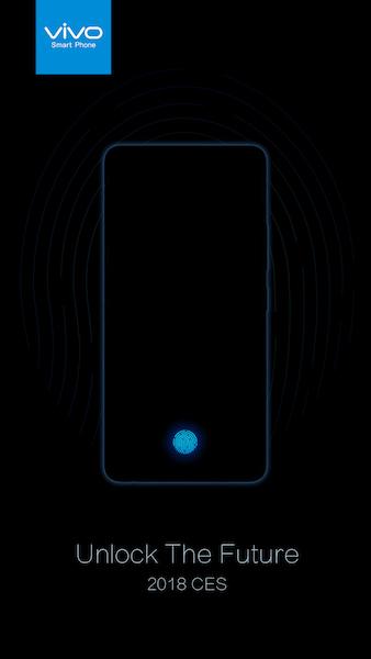 Vivo In-Display Fingerprint Scanning Technology at CES 2018