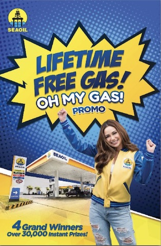 Gas up at SEAOIL and Win a LIFETIME FREE GAS!