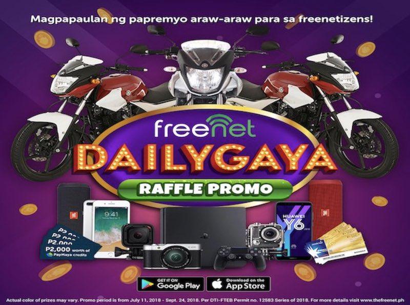 Win Sodexo GCs, GoPro, iPhone 7+ and many more with freenet's DAILYGAYA Raffle Promo