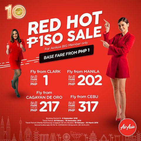SEAT SALE ALERT!: AirAsia RED HOT PISO SALE