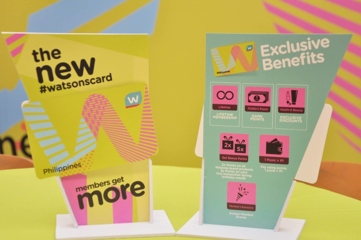 Get Exclusive and Amazing Perks with the new WATSONS CARD!