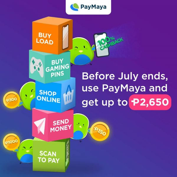 Get 100% Cashbacks and More Promos When You Use Your PayMaya!