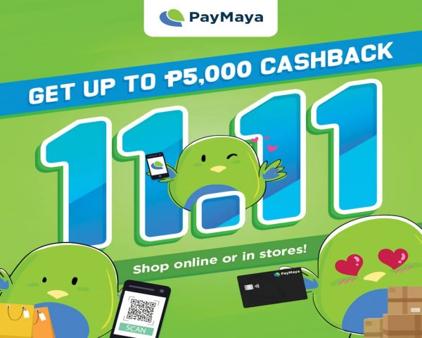 EnjoyUp toP5,000In DISCOUNTS And CASHBACK This 11-11 With Paymaya