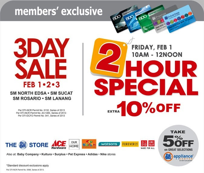 SM North Edsa's Great Northern Sale 10% Discount for SM Advantage Card Holders