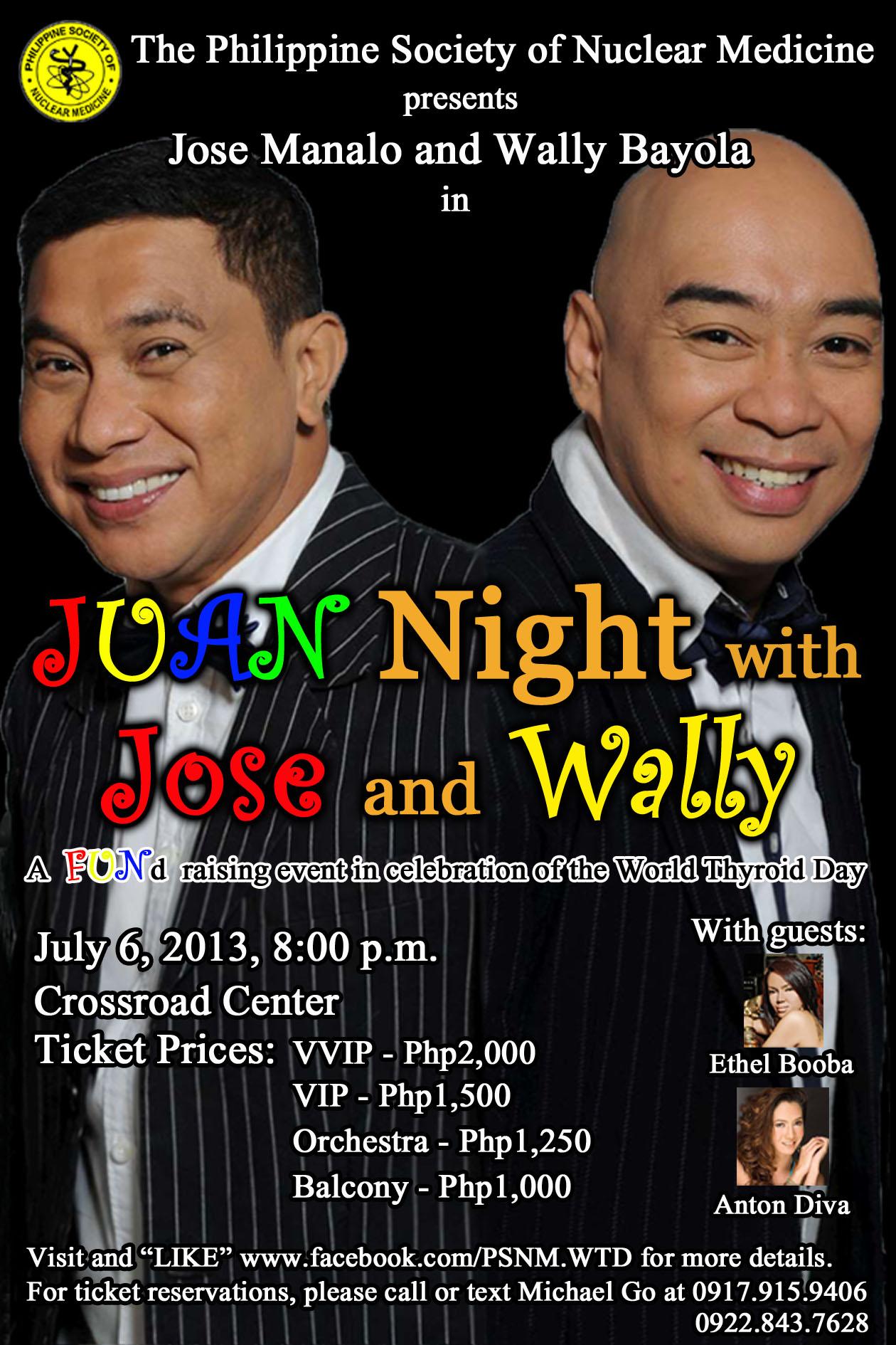 JUAN NIGHT with JOSE & WALLY: A FUNd Raising Event