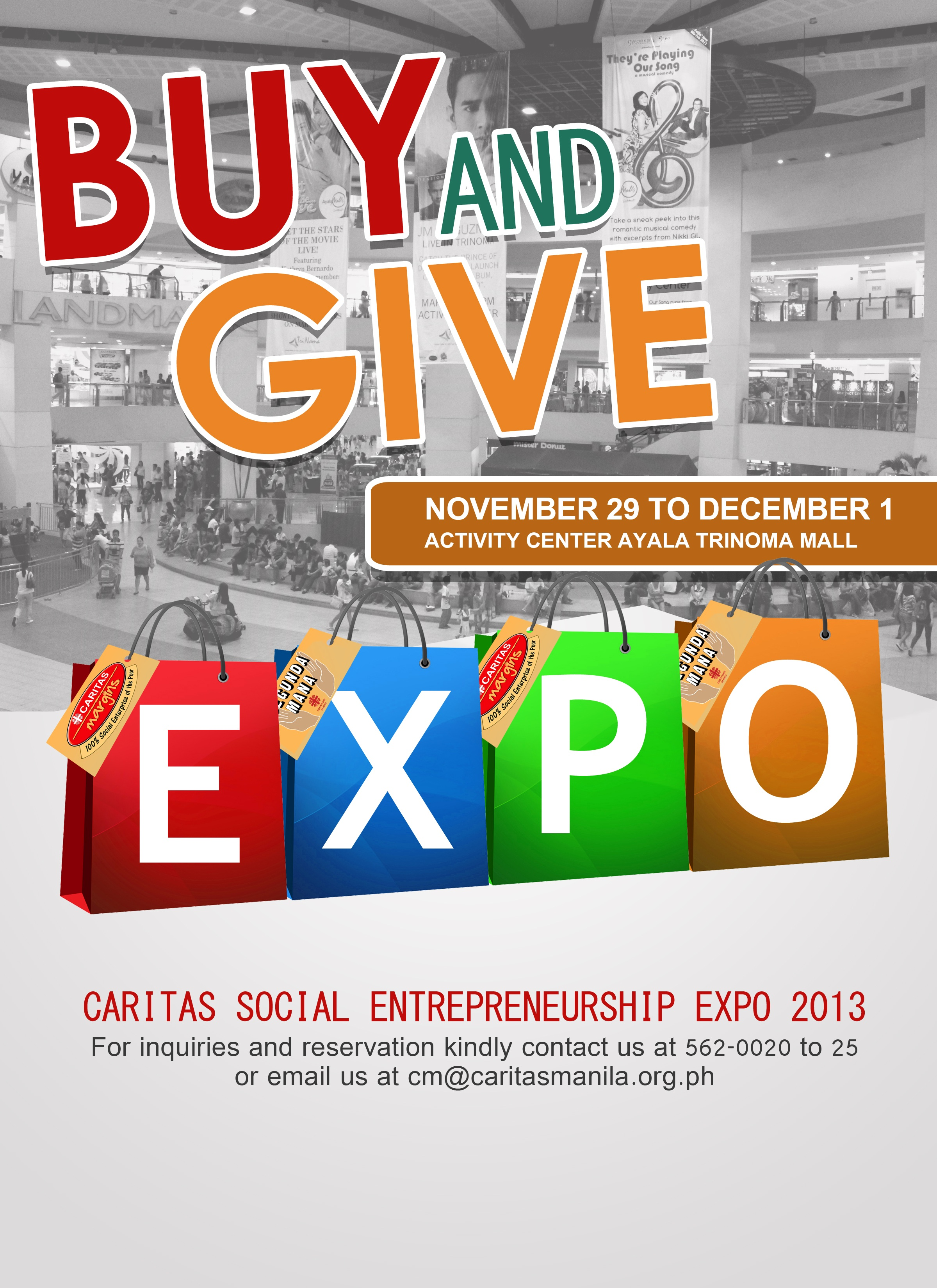 Help Build Lives Thru Caritas Manila's BUY and GIVE Expo 2013
