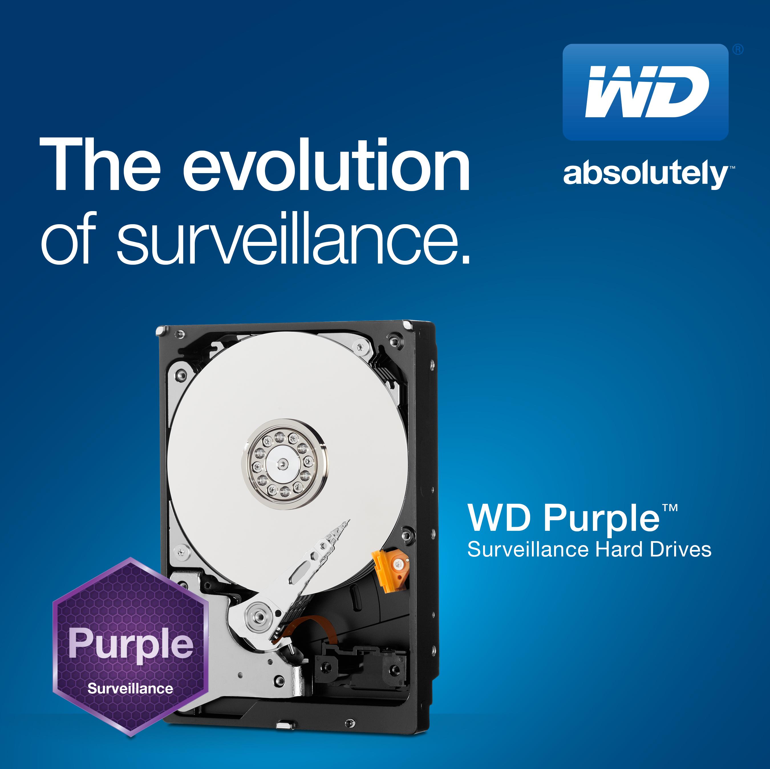 WD® DEBUTS The New WD Purple™ SURVEILLANCE-CLASS HARD DRIVE LINE