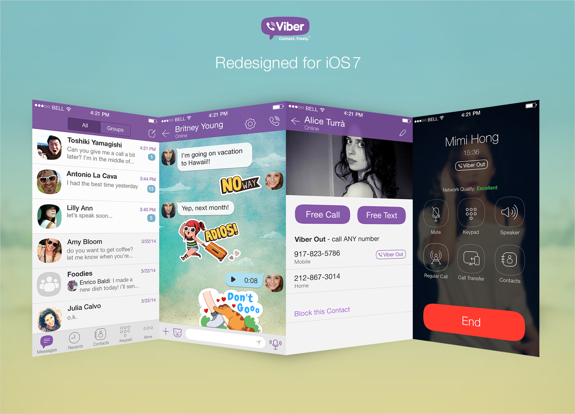 VIBER APP UPDATE: Viber Now Available on Blackberry 10 and Redesigns Its Look for iPhone