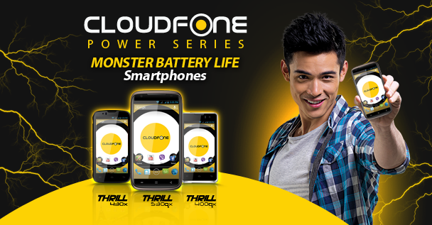 """Cloudfone Thrill530qx The """"Power Phone"""""""