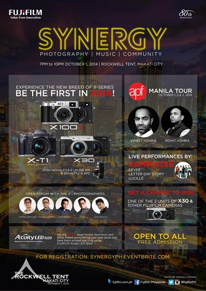 Fujifilm To Launch New Breed of X-series Cameras And Lenses In Synergy: Photography, Music and Community Event