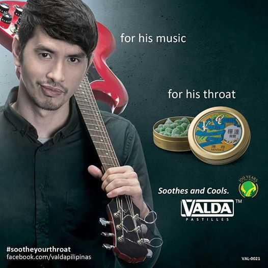Rico Blanco As The Newest Endorser of Valda Pastilles