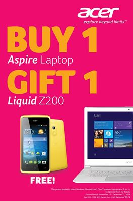 Get a FREE Acer Liquid Z200 Smartphone With Acer Philippine's Buy 1 Gift 1 Promo!