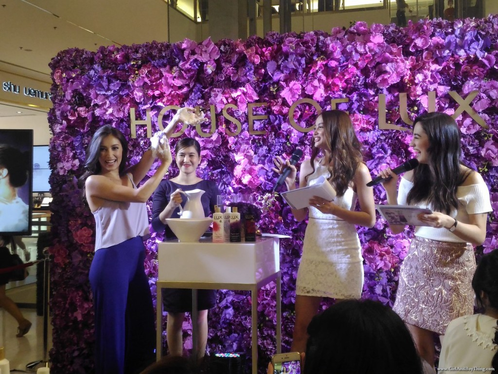 Solenn Heusaff And The New LUX Perfumed Bath Collection