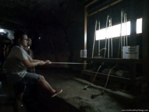 Sungai Lembing tin mines interactive booth