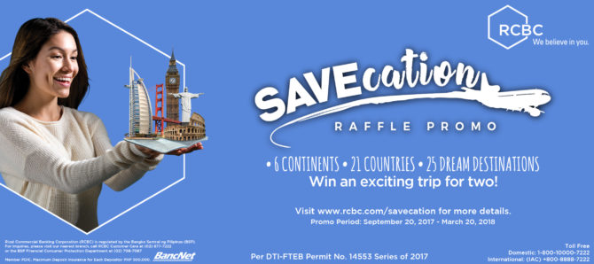 SAVEcation Raffle Promo