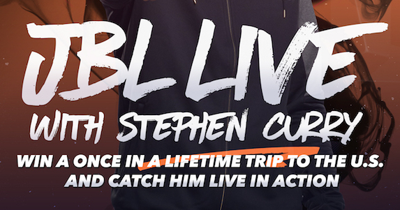 JBL Live with stephen curry promo