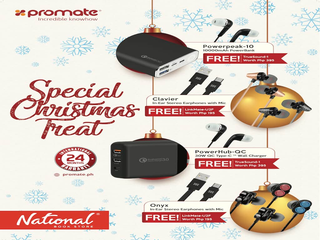 Christmas Gifts Shopping and FREEBIES with Promate