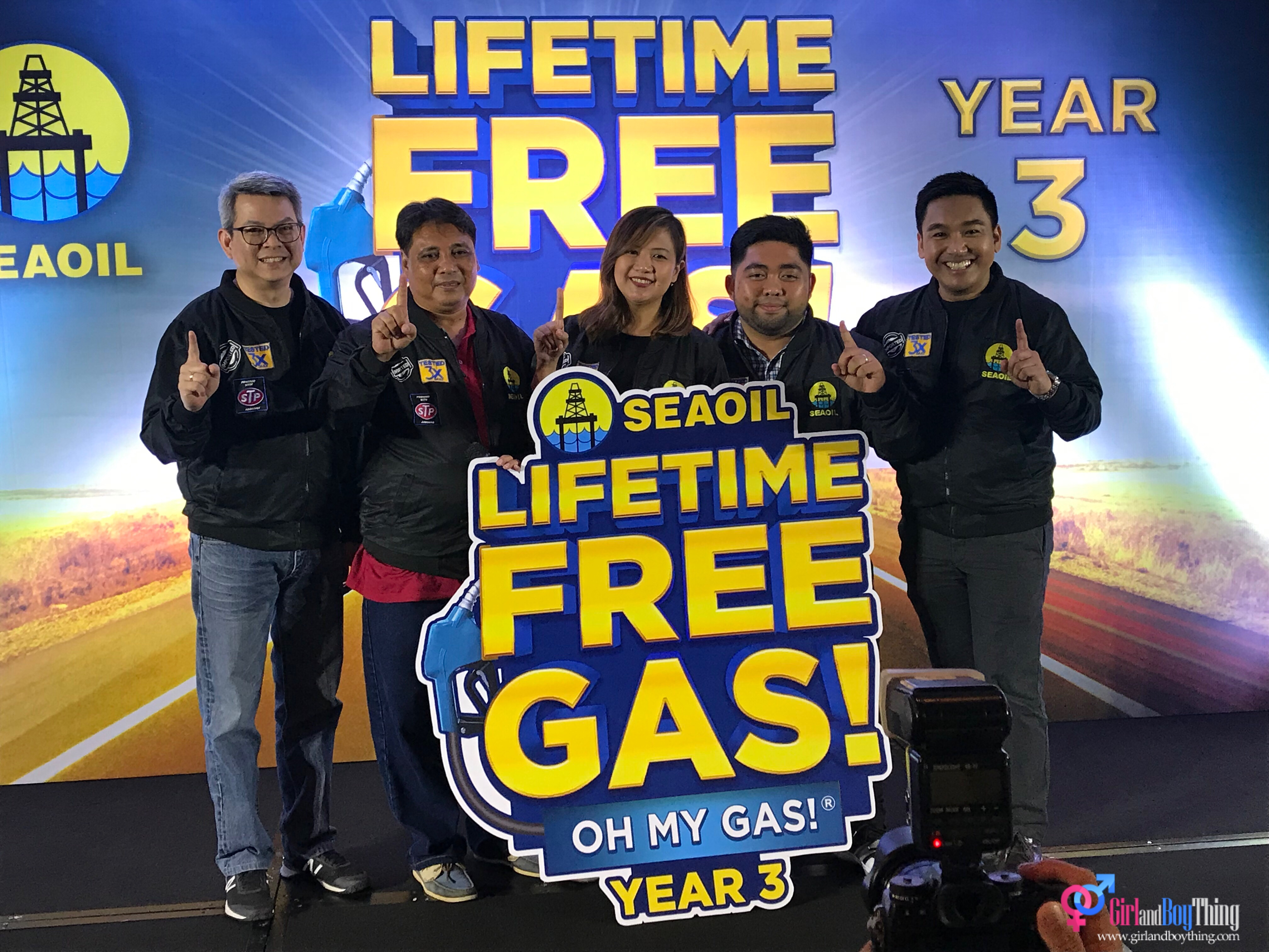 SEAOIL Lifetime Free Gas Oh My Gas!