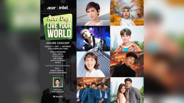 Sarah G, KathNiel, SB19 Shine At The First-ever Acer Day 2021 Online Concert