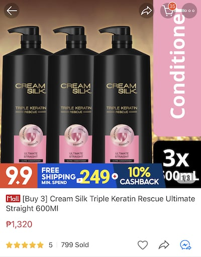 Enjoy Up To 30% OFF On CREAM SILK Products at Shopee Beauty