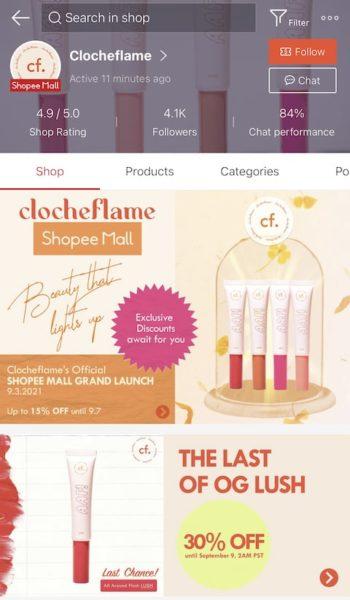Clocheflame in Shopee