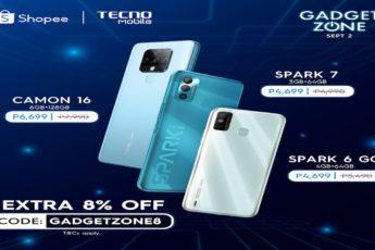 TECNO Mobile SALE in SHopee Ph