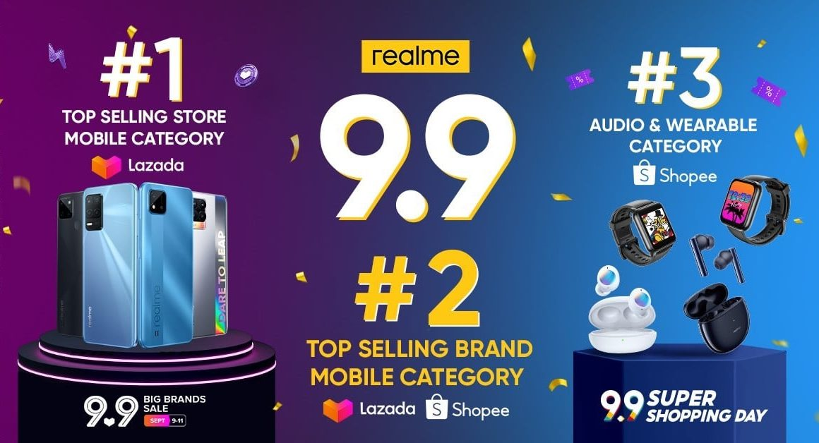 realme Philippines Official Store Tops During 9.9 Big Brands Sale As Most Selling Mobile Store